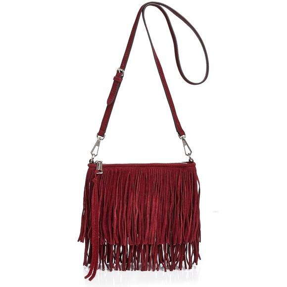 Rebecca Minkoff Finn Suede Fringe Crossbody Bag. M 5b58d51a7386bcf1313d1364 b92d0612df53b